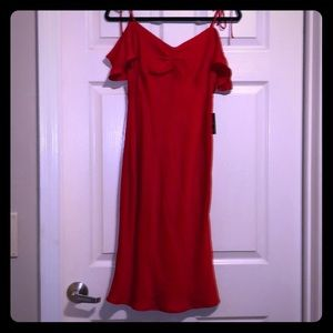 Satin red dress from Express SiZe Small